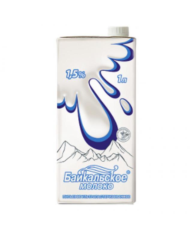 Молоко питьевое ультрапастеризованное Байкальское (1,5%)
