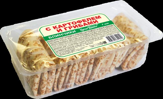 Блинчики с картофелем и грибами